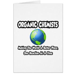 Químicos orgánicos… que hacen el mundo un mejor lu tarjeta de felicitación