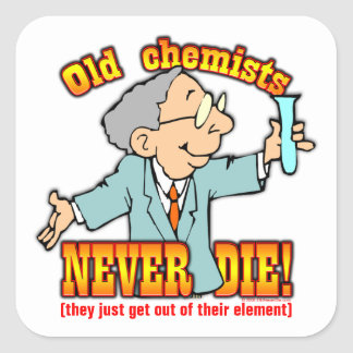 Químicos Pegatina Cuadrada