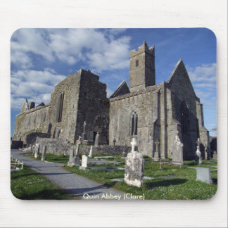 Quin abbey view mouse pad