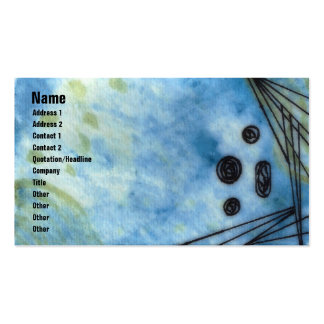 Quin - Blue Double-Sided Standard Business Cards (Pack Of 100)