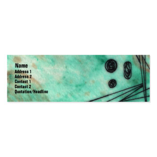 Quin - Deep Sea Foam/Turquoise Double-Sided Mini Business Cards (Pack Of 20)