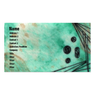 Quin - Deep Sea Foam/Turquoise Double-Sided Standard Business Cards (Pack Of 100)