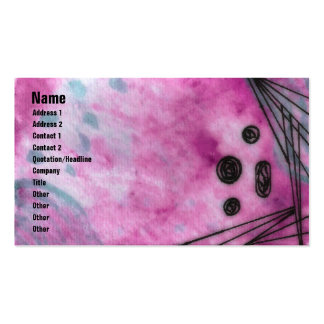 Quin - Pink Double-Sided Standard Business Cards (Pack Of 100)