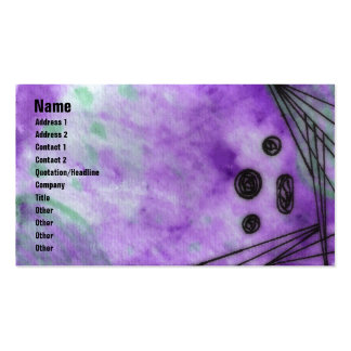 Quin - Purple Double-Sided Standard Business Cards (Pack Of 100)