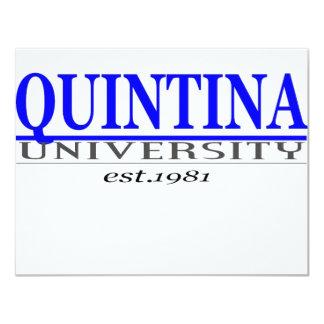 """quin. univ invitación 4.25"""" x 5.5"""""""