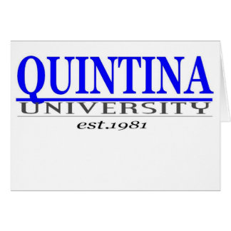 quin. univ tarjeta de felicitación