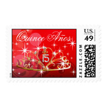 Quince Anos Tiara 15 red Postage