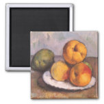 Quince, Apples and Pears by Paul Cezanne 2 Inch Square Magnet