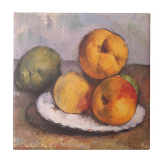 Quince, Apples and Pears by Paul Cezanne Tile