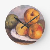 Quince, Apples, Pears, Cezanne, Vintage Still Life Round Clocks