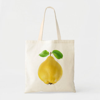 Quince fruit tote bag
