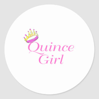 Quince Girl Classic Round Sticker