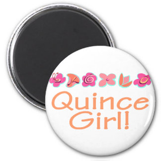 Quince Girl (peach color) 2 Inch Round Magnet