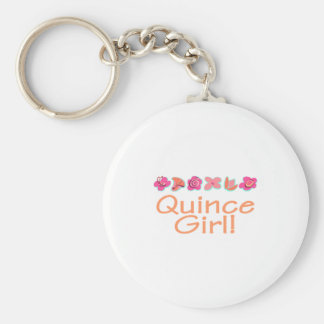 Quince Girl (peach color) Keychain