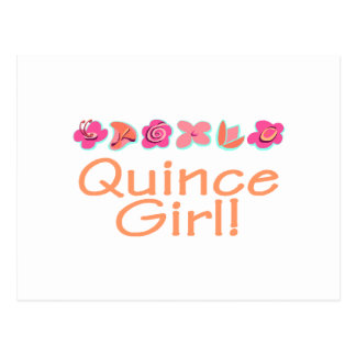 Quince Girl (peach color) Postcard