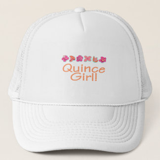 Quince Girl (peach color) Trucker Hat