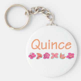 Quince Basic Round Button Keychain
