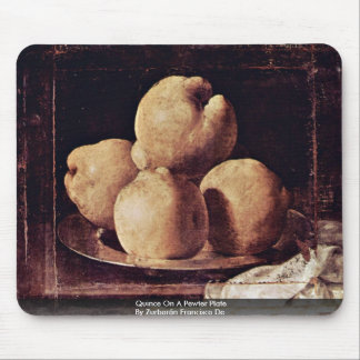 Quince On A Pewter Plate By Zurbarán Francisco De Mouse Pad