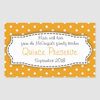 Quince preserve jam orange food label sticker