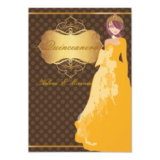 Quince/Sweet 16/ princess/polka dots Card