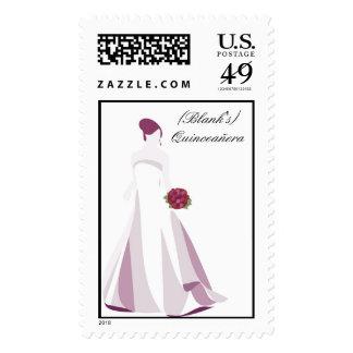Quinceaera Postage Stamp