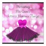 QUINCEANERA 15 Black Pink Dress Bubbles 2 Card