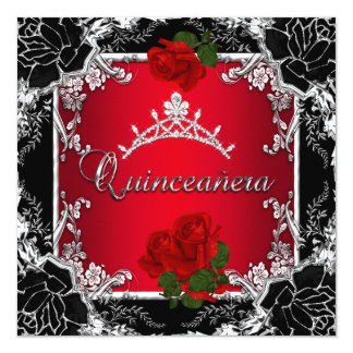 Red Quinceaera Invitations Announcements Zazzle