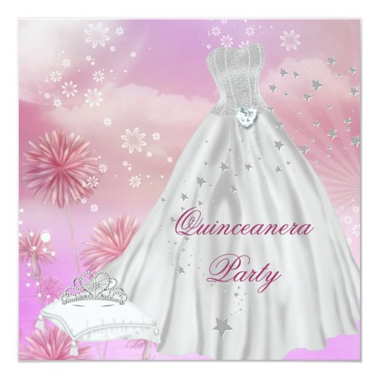 Quinceanera 15th 15 Birthday Party Tiara Card