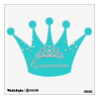 Quinceanera 15th 15 Birthday Party Tiara Wall Sticker