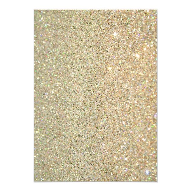 Quinceanera 15th Birthday Gold Glitter Sparkles Card (back side)