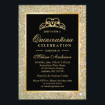 "Quinceanera 15th Birthday Gold Glitter Sparkles Invitation<br><div class=""desc"">Trendy Gold Glitter Sparkles Quinceanera 15th Birthday Party Invitation Template for you. You can use our design tool to add photos or text on the back by clicking the &quot;Customize it&quot; button. All text style, colors, sizes can also be modified to fit your needs. If you need further customization or...</div>"