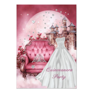 Quinceanera 15th Birthday Party Card