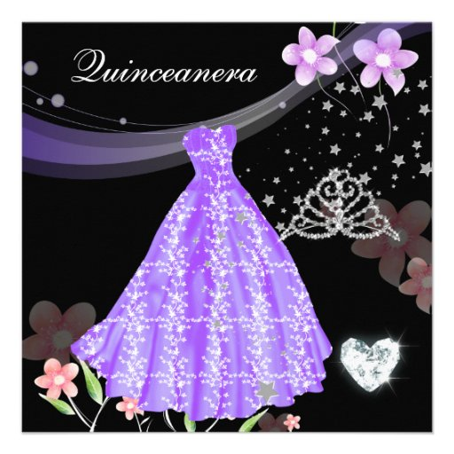 Quinceanera 15th Birthday Party Personalized Invites