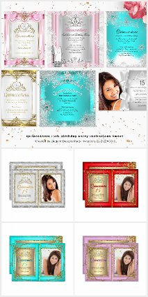 Quinceanera 15th Birthday Party Invitations Sweet