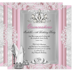 15th birthday party invitations announcements zazzle quinceanera 15th birthday party light pink shoes invitation filmwisefo