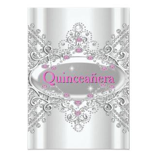 Quinceañera 15th Birthday Party Pink Diamonds Card