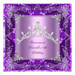 Quinceanera 15th Birthday Party Purple Lilac Announcements