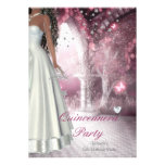 Quinceanera 15th Birthday Party White Dress Personalized Invites