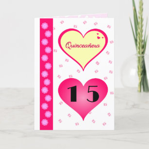 Quinceanera cards zazzle quinceanera 15th birthday pink hearts card m4hsunfo