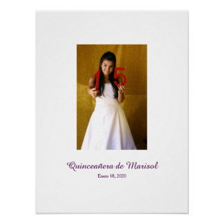 Quinceañera 15th birthday Sign In Party Board