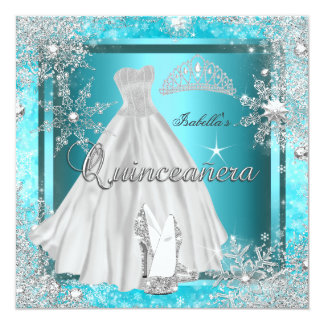Quinceanera 15th Elite Elegant Birthday Party Card