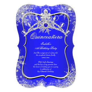 Royal Blue Silver Quinceanera Invitations Announcements Zazzle