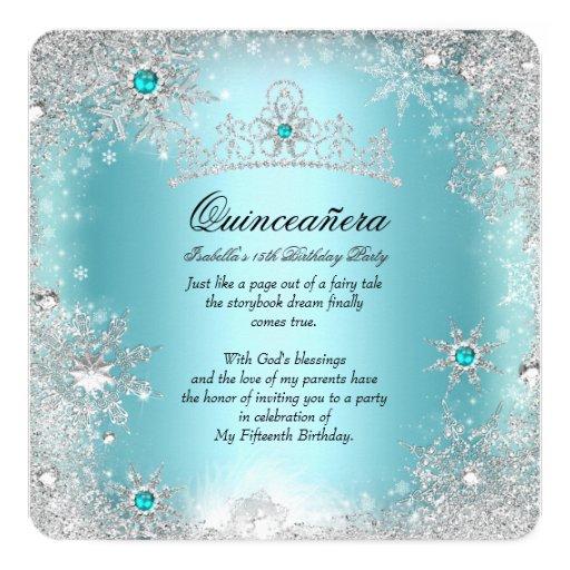 Quinceanera Unique Invitations with adorable invitation sample