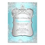 Quinceanera 15th Winter Wonderland Silver Blue 2 Custom Invites