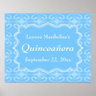 Quinceanera azul en colores pastel modelado suposi poster