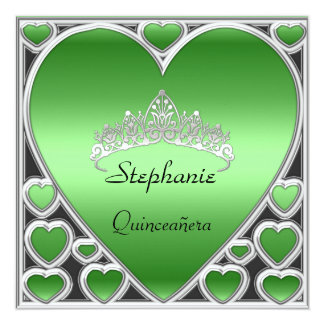 Quinceañera Birthday Party Apple Green Announcements