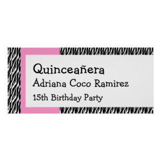 Quinceanera Birthday Party Celebration Banner V01 Poster