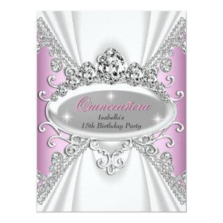 Quinceañera Birthday Princess Pink Diamonds Large Card