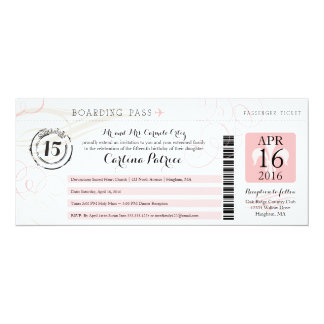 Quinceanera | Boarding Pass Card