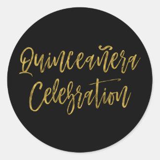 Quinceanera Celebration   15th Birthday Classic Round Sticker